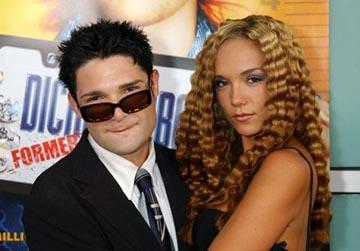 Premiere: Corey Feldman and wife Susie at the LA premiere of Paramount's Dickie Roberts: Former Child Star - 9/3/2003