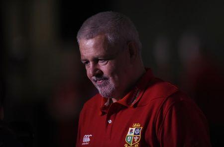 British & Irish Lions head coach Warren Gatland during the announcement