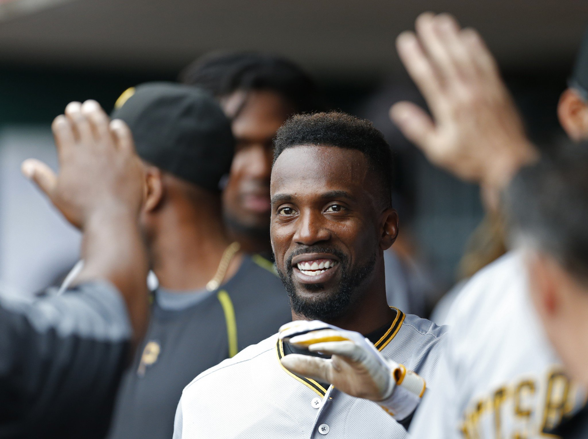 Andrew McCutchen could be on the move from Pittsburgh soon. (AP)