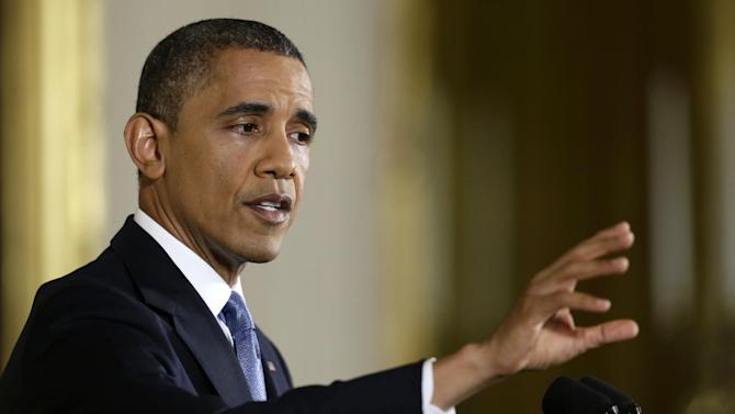 President Barack Obama answers a question during a news conference in the East Room of the White House in Washington, Wednesday, Nov. 14, 2012. (AP Photo/Charles Dharapak)