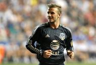 Football legend David Beckham, pictured here in July, says he will play his final game with the Los Angeles Galaxy when the Major League Soccer club hosts the league championship early next month