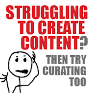 Struggling to Create Enough Content? Then Try Curating Too. image struggling to create content