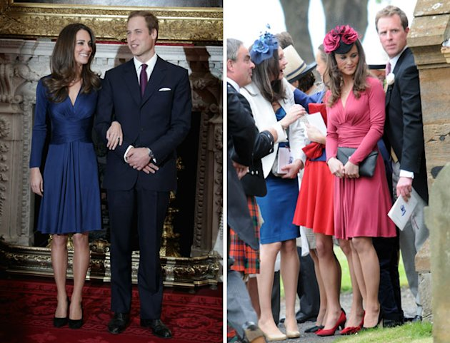 Pippa Middleton Attends Wedding Wearing Red Version of Kate's Issa Engagement Dress