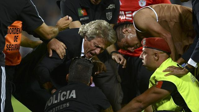 European Football - Benfica boss Jesus could face huge ban after fighting police