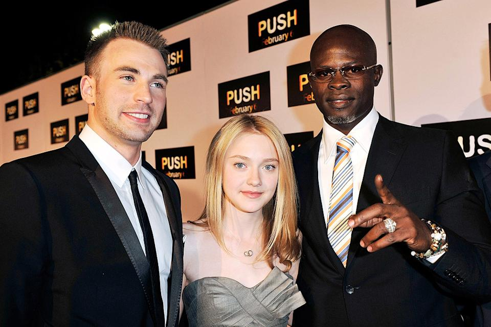 Push LA Premiere 2009 Chris Evan Dakota Fanning Djimon Hounsou