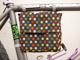 Bicycle-frame lunch bag