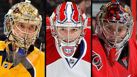 NHL goalies in Vezina Trophy race: Nashville Predators' Pekka Rinne, Montreal Canadiens' Carey Price and Ottawa Senators' Craig Anderson