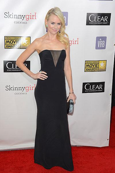 Naomi Watts: She plays Princess Diana AND Marilyn Monroe in upcoming films so it's no wonder that Watts knows how to look glamorous on the red carpet. The actress (who's nominated for an Oscar for 'The Impossible') makes the little black dress look hot with the sheer v-neckline. (Photo by Frazer Harrison/Getty Images)