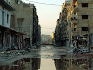 A picture released by the Syrian opposition's Shaam News Network shows destruction in the southwest town of Daraya on December 27, 2012. The government of President Bashar al-Assad said it welcomed any initiative for talks to end bloodshed in the country, after UN-Arab League envoy Brahimi said he had a peace plan acceptable to world powers