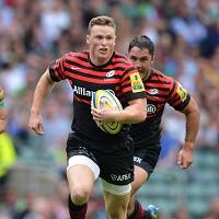 Saracens winger Chris Ashton was attacked by a stranger on an evening out