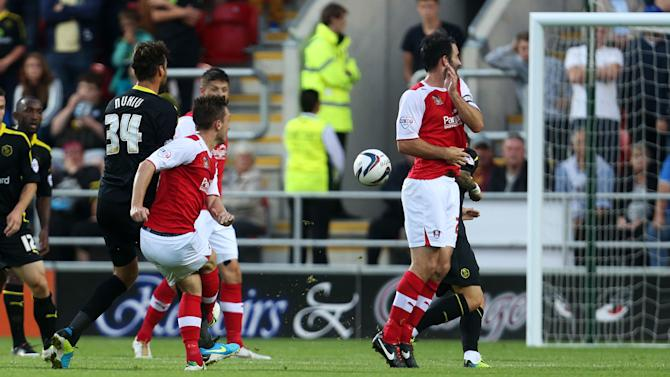 Soccer - Capital One Cup - First Round - Rotherham United v Sheffield Wednesday - New York Stadium