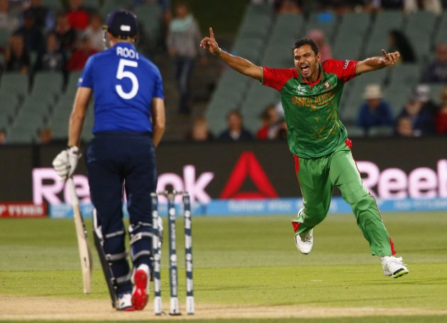 Mashrafe gets Joe Root.