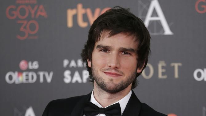 Musician Vidal poses on the red carpet before the Spanish Film Academy's Goya Awards ceremony in Madrid