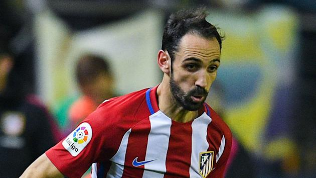 Diego Simeone has been dealt a blow for big upcoming matches against Bayer Leverkusen and Barcelona with Juanfran straining his hamstring.