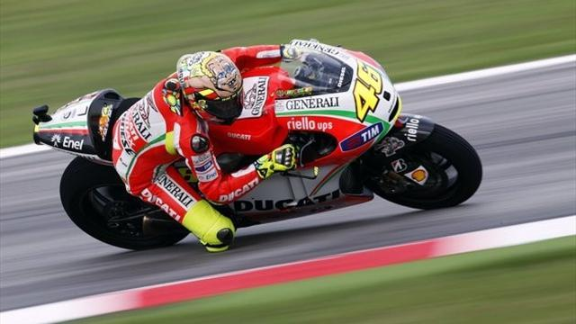 Rossi happy with Misano test