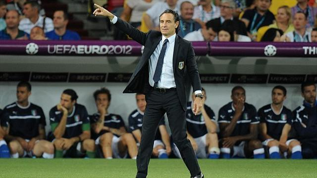 World Cup - Italy debates Prandelli successor with qualification near