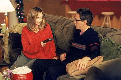 """Ally (Calista Flockhart, L) and Larry (Robert Downey Jr., R) get in the holday spirit on the """"'Tis The Season"""" episode of Ally McBeal Ally McBeal"""