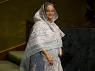 Bangladesh's Prime Minister Sheikh Hasina attends the United Nations General Assembly meeting on September 27, 2012. She will sign defence and nuclear energy deals worth $1.5 billion during a three-day visit to Russia which begins on Monday, the government announced