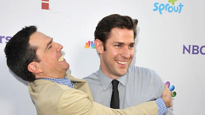 """Ed Helms and John Krasinski of """"The Office"""" attends the NBC Universal Summer TCA 2011 All-Star Party at the SLS Hotel on August 1, 2011 in Los Angeles, California."""