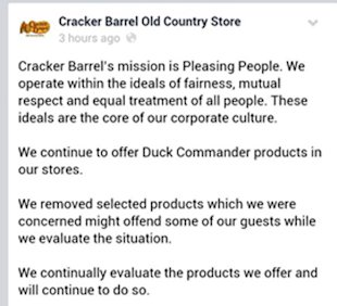 The First Rule of Business Growth – Know Your Customers image cracker barrel pulls duck dynasty