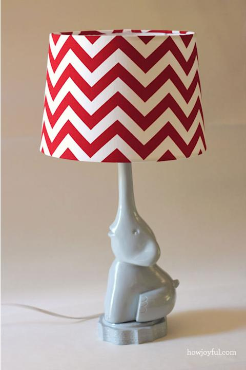 DIY Chevron Lamp