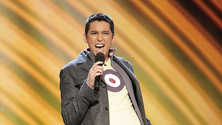 Rudy Cardenas performs in front of the judges on 6th season of American Idol.