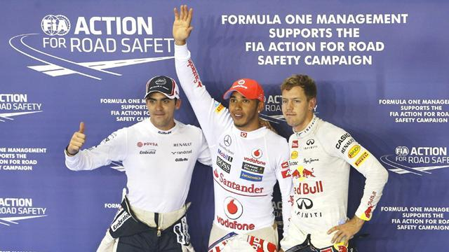 Hamilton on pole in Singapore