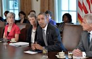 US President Barack Obama speaks during a cabinet meeting at the White House in Washington, DC, on September 12, 2013