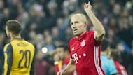 The Bayern Munich winger cut in from the right-hand side in trademark style to give Bayern Munich the lead in their Champions League clash