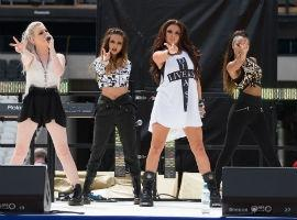 Perrie Edwards Shows Off New Long Locks As Little Mix Perform At Olympic Stadium (PHOTOS)