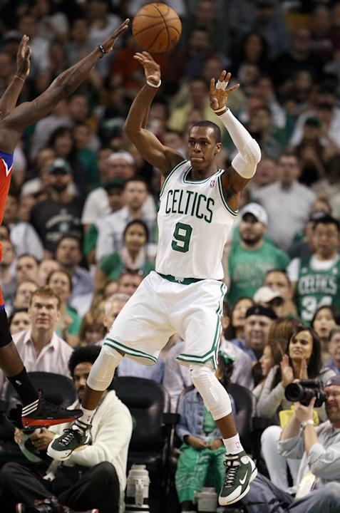Rajon Rondo #9 Of The Boston Celtics Passes Getty Images