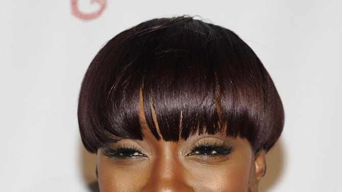 "FILE - In this Oct. 17, 2011 file photo, singer Estelle attends the Gabrielle's Angel Foundation for Cancer Research ""Angel Ball"" honors gala at Cipriani's Wall St. in New York. This week, Estelle is releasing the album ""All of Me,"" which features collaborations with Chris Brown, Trey Songz, Rick Ross, Nas, Ne-Yo and Janelle Monae. (AP Photo/Evan Agostini, File)"