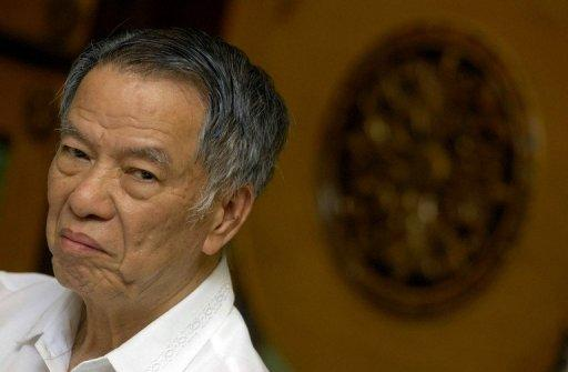 Filipino tycoon Lucio Tan, pictured the 10th World Chinese Entrepreneurs Convention (WCEC) in Manila, in 2009. Tan has won a decades-long legal battle to keep the fortune he built up during the dictatorship of Ferdinand Marcos, according to his lawyer