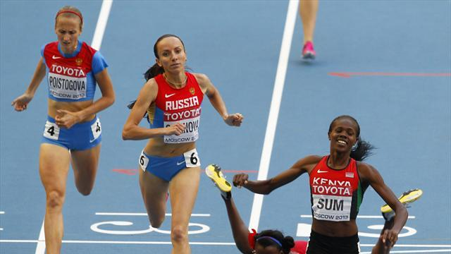 World Championships - Sum smashes PB to take surprise 800 gold in Moscow
