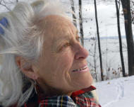 "FILE In this Dec. 10, 2007 file photo, Anne LaBastille poses in Westport, N.Y. LaBastille, the environmentalist, sometime hermit and Adirondack author whose ""Woodswoman"" autobiographies inspired others to venture into the wilderness, has died at a nursing home in Plattsburgh, N.Y. She was 75. (AP Photo/Rob Fountain, File)"