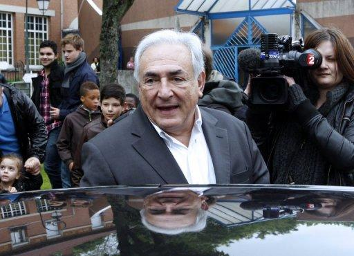 File photo of Dominique Strauss-Kahn in Sarcelles, a Paris suburb. A French court will Wednesday rule on whether to drop pimping charges against former IMF chief Dominique Strauss-Kahn in the last sex crime case against him in France.