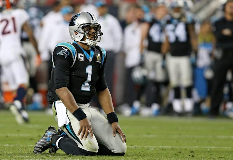 Cam Newton and the Panthers had few answers for the Broncos in Super Bowl 50 on Feb. 7, 2016, in Santa Clara, California. (Getty)