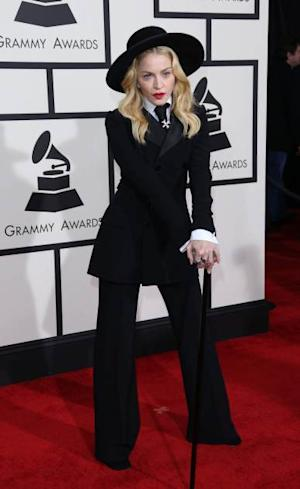 Madonna arrives at the 56th Annual Grammy Awards at Staples Center on January 26, 2014 in Los Angeles -- WireImage