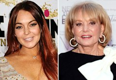 Lindsay Lohan, Barbara Walters | Photo Credits: Jason LaVeris/FilmMagic; Jamie McCarthy/Getty Images