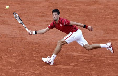Tennis - French Open - Roland Garros - Novak Djokovic of Serbia v Aljaz Bedene of Britain