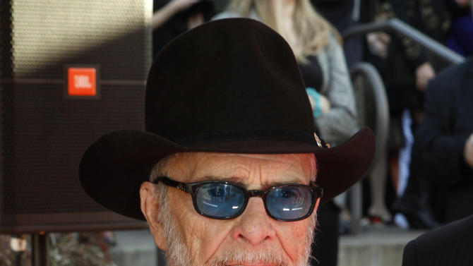 Merle Haggard attends the Country Music Hall of Fame Inductions on Sunday, Oct. 21, 2012 in Nashville, Tenn. (Photo by Wade Payne/Invision/AP)