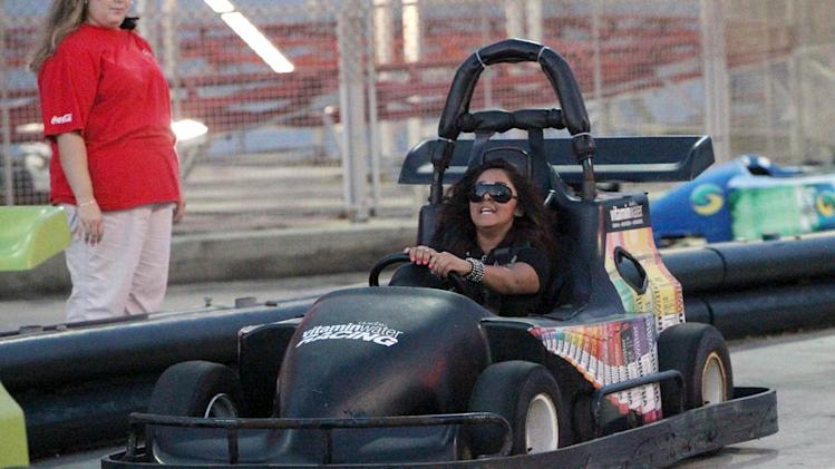 Snooki Riding Go Carts