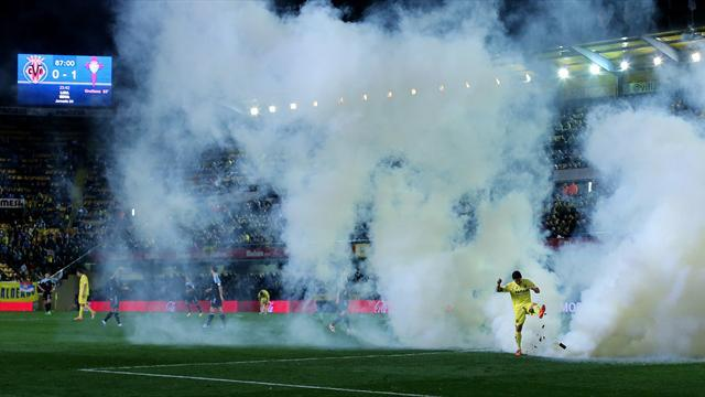 Liga - Villarreal fined 4,000 euros over teargas incident