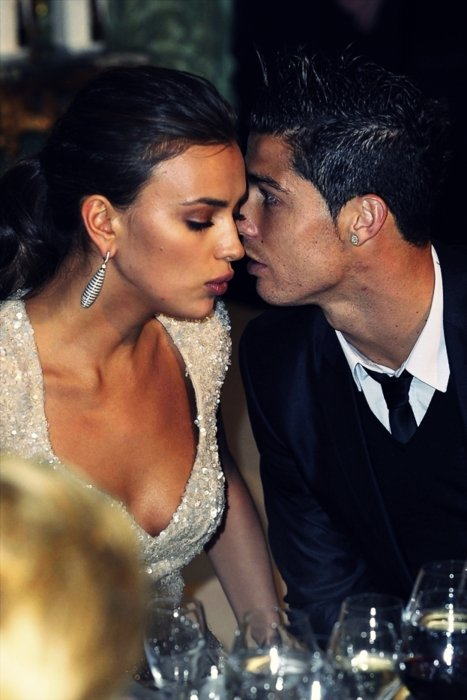 Ronaldo and Irina Shayk at an ambassador's function in Madrid.