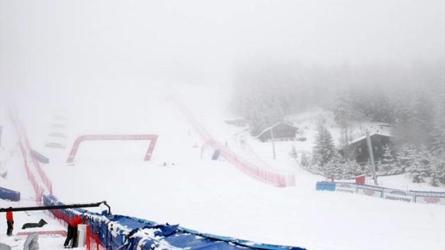 Alpine Skiing - Bad weather forces postponement of ladies' World Cup downhill
