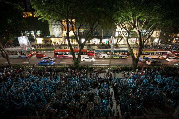 Earth Hour on Orchard Road