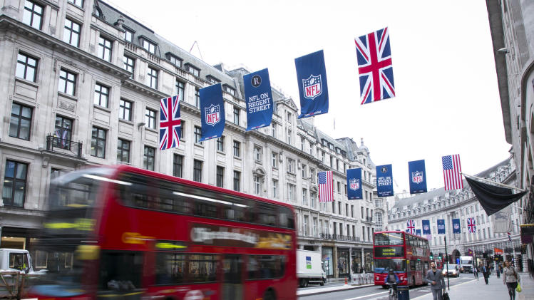 NFL flags on Regent Street