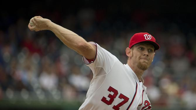 Strasburg goes into 8th, Nats top Dodgers 3-2