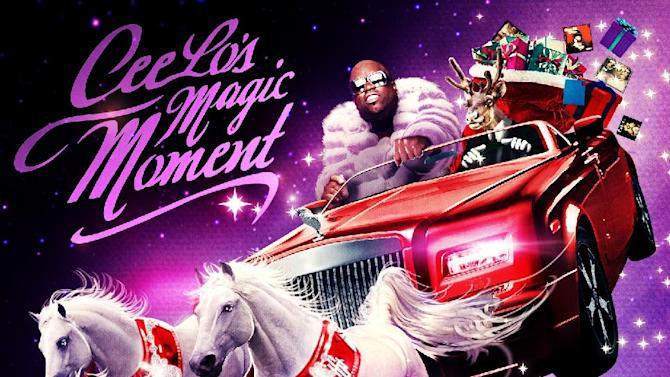 "This CD cover image released by Atlantic Records shows CeeLo Green's holiday release, ""CeeLo's Magic Moment.""  (AP Photo/Atlantic Records)"