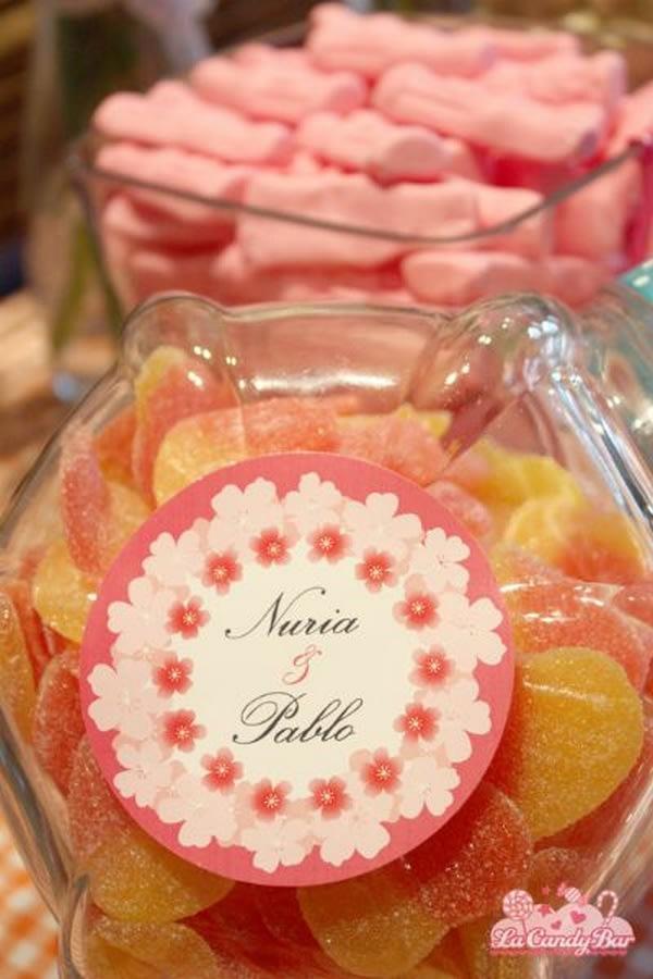 Mesas de chuches para tu boda